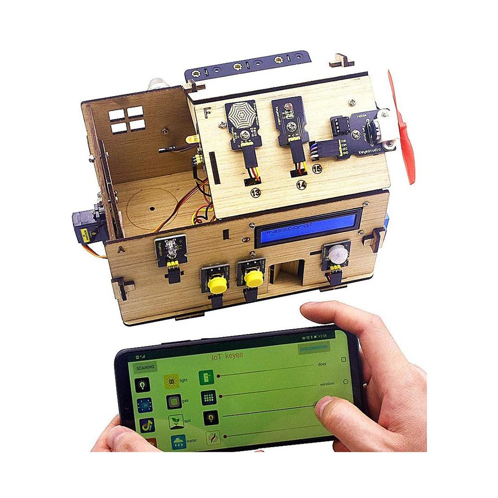 ערכת-אלקטרוניקה-ותכנות-לבניית-בית-חכם-מבוסס-ארדואינו-keyestudio-arduino-smart-home