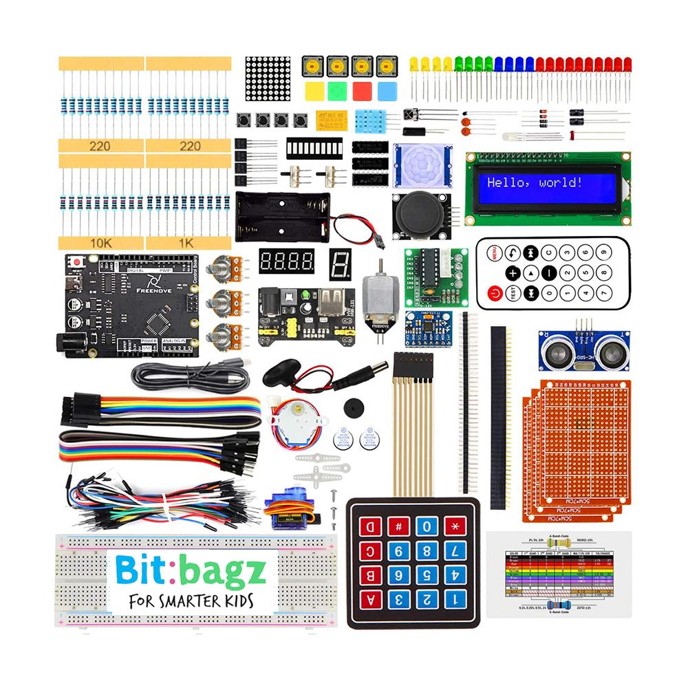 ערכת-ארדואינו-לאלקטרוניקה-ותכנות-לילדים-ונוער-מבוססת-arduino-bitbagz-ultimate-starter-kit
