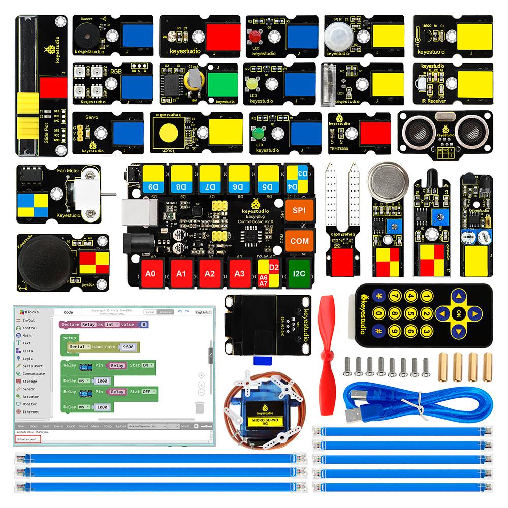 ערכת-בנייה-לארדואינו-Arduino-מורחבת-מבוססת-לוח-UNO-R3-בתוספת-ערכת-הרחבות-גדולה-עם-חיבורים-מהירים-KEYESTUDIO-Ultimate-Starter-Kit-עם-22-פרויקטים--2--3